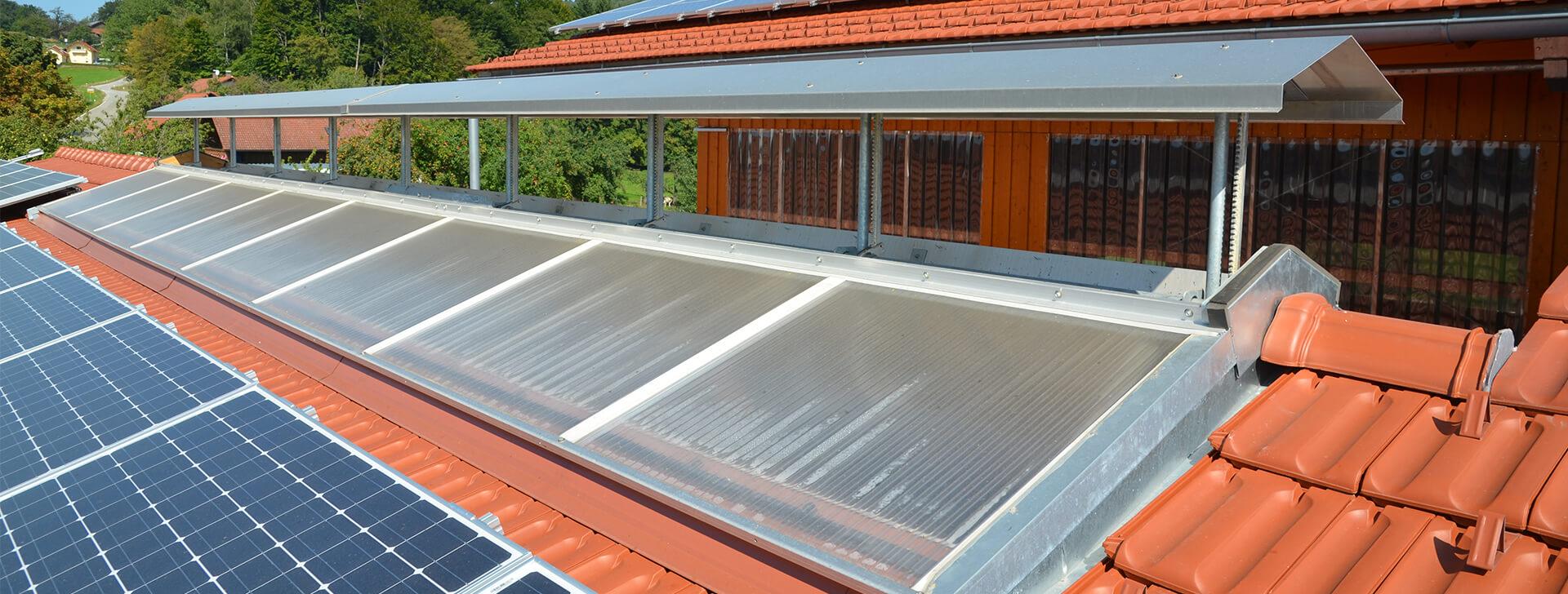 lüftung und belichtung dach - agrarbau, hallenbau, wolf system