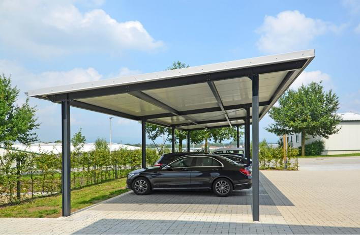 Carportsysteme - Stahlhalle - WOLF Systembau